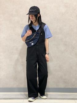 Lee 名古屋店のFuuyaさんのLeeの【ユニセックス】ワンポイントロゴ刺繍 半袖Tシャツを使ったコーディネート