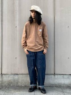 Lee 名古屋店のFuuyaさんのLeeのミリタリー ビッグポケットパンツを使ったコーディネート