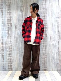 Lee 名古屋店のFuuyaさんのLeeの【さらっと羽織れる】シャツジャケットを使ったコーディネート
