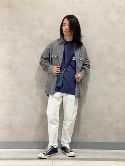 Lee 名古屋店のFuuyaさんのLeeのBLACK RIDERS デニムシャツを使ったコーディネート