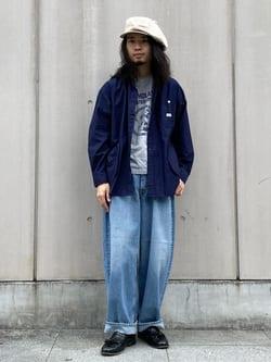 Lee 名古屋店のFuuyaさんのLeeのSUPERSIZED ストレートデニムパンツを使ったコーディネート