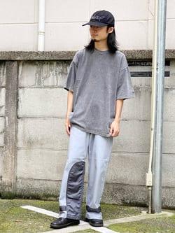Lee 名古屋店のFuuyaさんのLeeの【SALE】USED加工 半袖Tシャツを使ったコーディネート