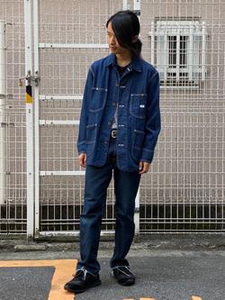 名古屋店のFuuyaさんのLeeのカバーオールジャケットを使ったコーディネート