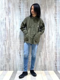 Lee 名古屋店のFuuyaさんのLeeの【直営店・WEB限定】ビッグポケット シャツジャケットを使ったコーディネート