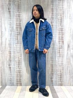 Lee 名古屋店のFuuyaさんのLeeのBOA STORM RIDER ジャケット【デニム】を使ったコーディネート