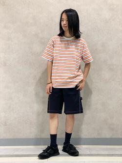 Lee 名古屋店のFuuyaさんのLeeのマルチボーダー 半袖Tシャツを使ったコーディネート
