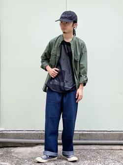 Lee 名古屋店のFuuyaさんのLeeの【SALE】バンドカラーシャツ/長袖を使ったコーディネート