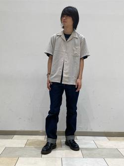 Lee 名古屋店のFuuyaさんのLeeの終了【シークレットセーール!!】オープンカラーシャツ 半袖(POPLIN WASHER)を使ったコーディネート