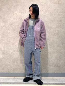Lee 名古屋店のFuuyaさんのLeeの【Pre sale】【ユニセックス】フリースジップアップジャケットを使ったコーディネート