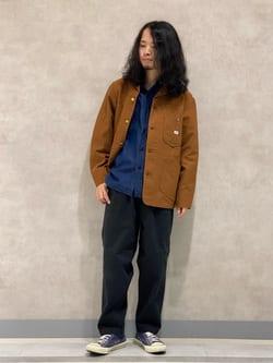 Lee 名古屋店のFuuyaさんのLeeの【試着対象】【期間限定10%OFF】カバーオールジャケットを使ったコーディネート