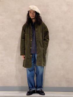 Lee 名古屋店のFuuyaさんのLeeの【期間限定10%OFF】ロコ ロングジャケット コーデュロイを使ったコーディネート