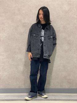 Lee 名古屋店のFuuyaさんのLeeのBLACK RIDERS デニムジャケットを使ったコーディネート