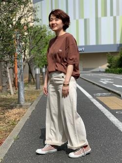 ららぽーと横浜のAyanaさんのLeeの終了【再値下げ!サマーセール】ニット 半袖を使ったコーディネート