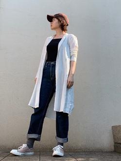 ららぽーと横浜のAyanaさんのLeeのAMERICAN RIDERS 101Z ストレートジーンズを使ったコーディネート
