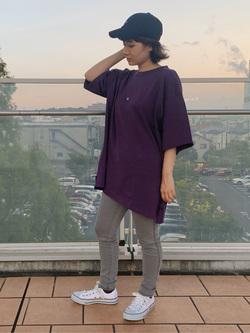ららぽーと横浜のAyanaさんのLeeの終了【決算SALE】【ユニセックス】ヘビーウエイト Tシャツを使ったコーディネート
