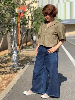 ららぽーと横浜のAyanaさんのLeeの終了【再値下げ!サマーセール】ルーズフィットシャツ 半袖を使ったコーディネート