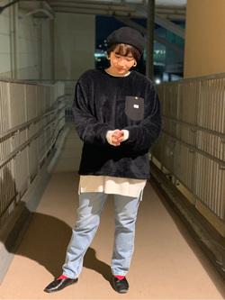 ららぽーと横浜のAyanaさんのLeeの【おうち時間応援セール】BASIC クルーネックシャツ 長袖を使ったコーディネート