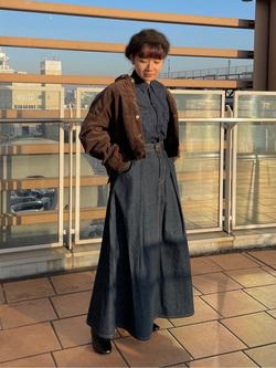 ららぽーと横浜のAyanaさんのLeeのワークシャツ 長袖を使ったコーディネート
