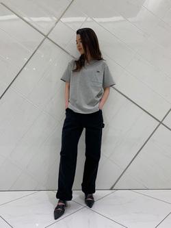 熊本COCOSA店のNANAKOさんのLeeの【シークレットセーール!!】ポケットTシャツ 半袖を使ったコーディネート