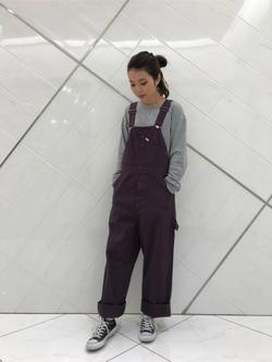 熊本COCOSA店のNANAKOさんのLeeのワークミリタリー オーバーオールを使ったコーディネート