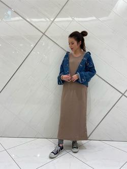 熊本COCOSA店のNANAKOさんのLeeのサーマルロングドレスを使ったコーディネート