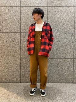 札幌パセオ店のsho-taさんのLeeの【さらっと羽織れる】シャツジャケットを使ったコーディネート