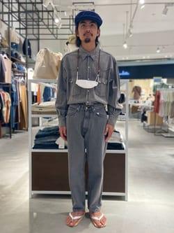 西宮ガーデンズ店のkotohさんのLeeのBLACK RIDERS ワイドデニムパンツを使ったコーディネート