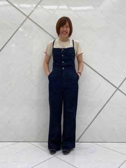 熊本COCOSA店のakiyoさんのLeeの【シークレットセーール!!】MARINE マリンサロペツトを使ったコーディネート