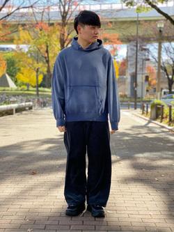 Lee 名古屋店のTomoさんのLeeの【Pre sale】【USED WASH】スウェットパーカーを使ったコーディネート