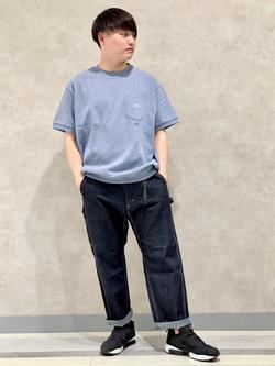 Lee 名古屋店のTomoさんのLeeのヘビーウエイト半袖Tシャツを使ったコーディネート