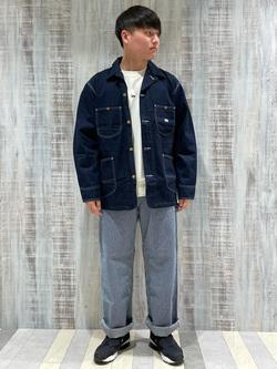 Lee 名古屋店のTomoさんのLeeのカバーオールジャケットを使ったコーディネート