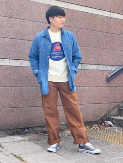 Lee 名古屋店のTomoさんのLeeのARCHIVES 50S 91J LOCO JACKETを使ったコーディネート