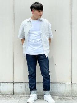 Lee 名古屋店のTomoさんのLeeの終了【ガレージセール】ボックスフィット 半袖シャツを使ったコーディネート