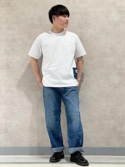 Lee 名古屋店のTomoさんのLeeの【SALE】【直営店・WEB限定】ペインターポケット半袖Tシャツを使ったコーディネート