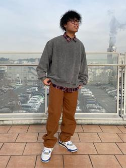 ららぽーと横浜のYoshihiroさんのLeeの【ユニセックス】DUNGAREES ペインターパンツを使ったコーディネート
