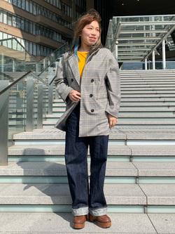 LINKS UMEDA店のR!さんのEDWINの【シークレットセーール!!】EDWIN LADIES 505 シンチバック サスペンダー ワイドパンツを使ったコーディネート