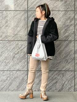 LINKS UMEDA店のR!さんのEDWINのF.L.E ボア フリースジャケットを使ったコーディネート