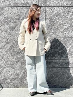 LINKS UMEDA店のR!さんのSOMETHINGの【GISELe 3月号掲載】SOMETHING セーラーワイドパンツを使ったコーディネート