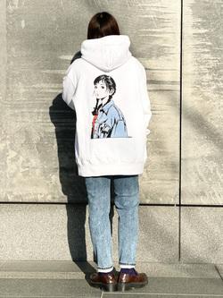 LINKS UMEDA店のR!さんのEDWINの【直営店限定】ジーパン女子 x 江口寿史 パーカー 【ユニセックス】を使ったコーディネート