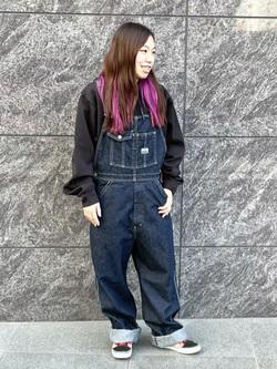 LINKS UMEDA店のR!さんのEDWINの【Winter sale】F.L.E パーカー(ダンボールニット)を使ったコーディネート