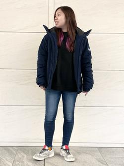 LINKS UMEDA店のR!さんのEDWINの【再値下げ Winter sale】F.L.E エアーサックジャケット (二層防風)を使ったコーディネート