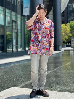 LINKS UMEDA店のR!さんのEDWINの【EDWIN 60周年限定】 半袖シャツを使ったコーディネート