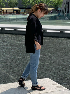 LINKS UMEDA店のR!さんのEDWINの【EDWIN×SaoriOyamada】シャツを使ったコーディネート