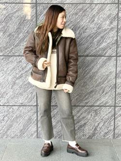 LINKS UMEDA店のR!さんのの【Winter sale】B-3 フェイクムートン レディースを使ったコーディネート