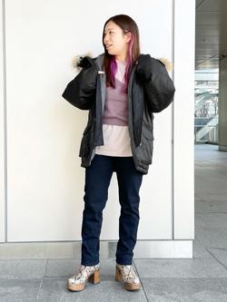 LINKS UMEDA店のR!さんのEDWINのEDWIN LADIES ジャージーズ テーパード【スタンダードモデル】を使ったコーディネート