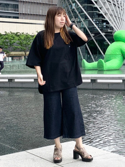 LINKS UMEDA店のR!さんのC17のC17 ポケット ビッグTシャツを使ったコーディネート