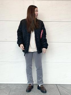 LINKS UMEDA店のR!さんののMA-1 タイト ジャケット【ユニセックス】を使ったコーディネート