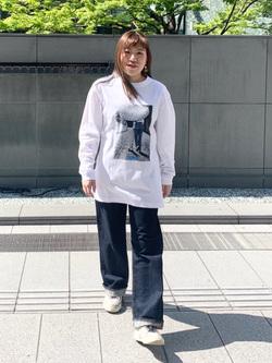 LINKS UMEDA店のR!さんのEDWINの終了【サマーセール】OLD AD BANGASA Tシャツ 長袖を使ったコーディネート