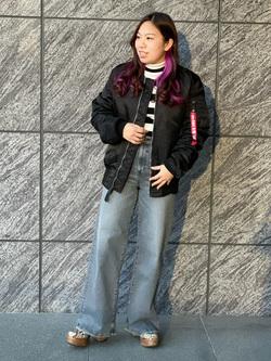 LINKS UMEDA店のR!さんのSOMETHINGの【GISELe 3月号掲載】SOMETHING LISA ワイドを使ったコーディネート
