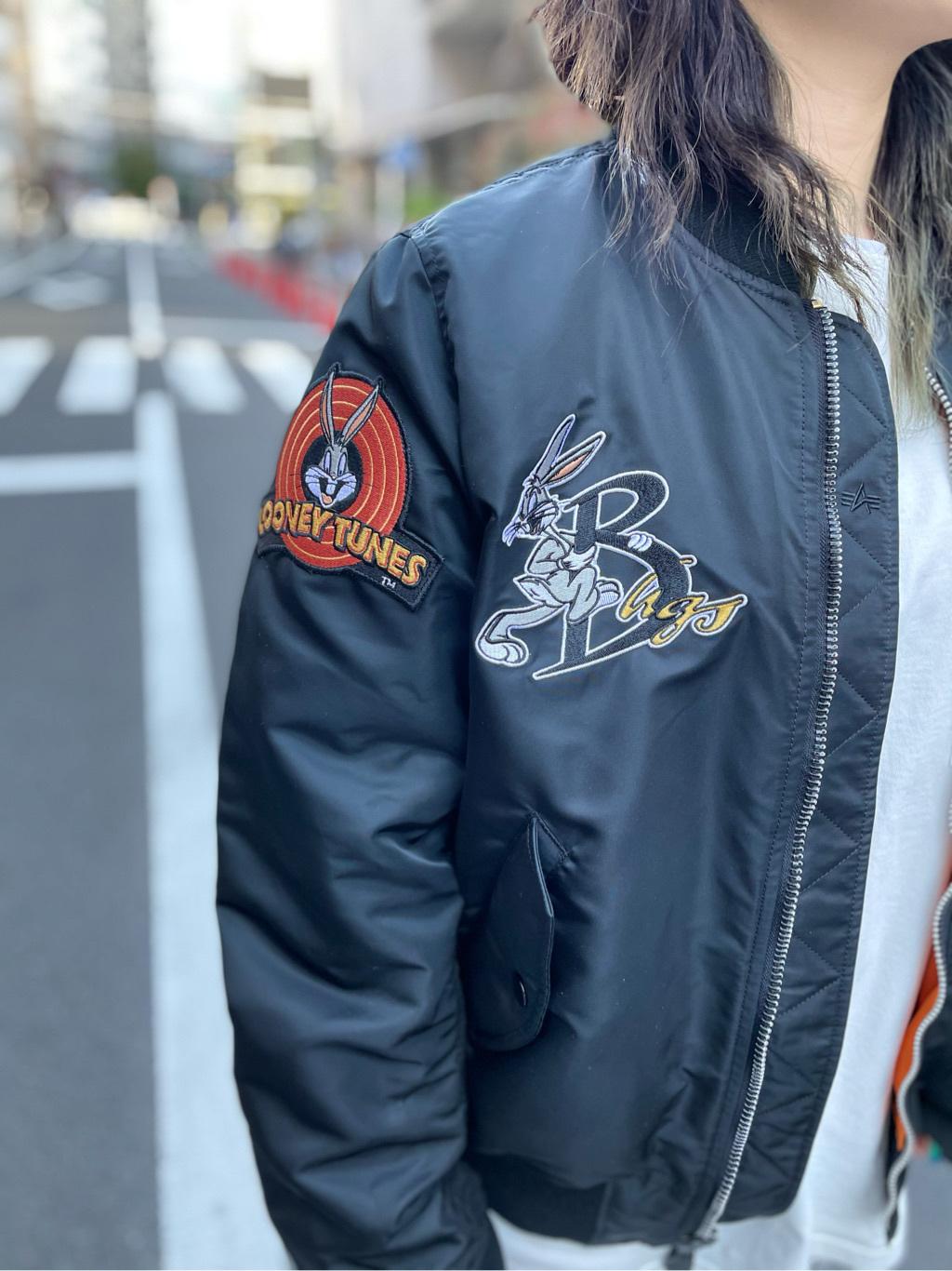 ALPHA SHOP渋谷店のmoe さんのALPHAのLOONEY TUNES L-2Bタイトジャケットを使ったコーディネート